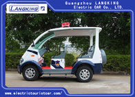 4 Seater Electric Golf Cart , Electric Security Carts Maintenance Free Battery Powered