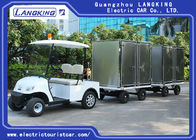 2 Ton Electric Golf Carts , White Color Two Seats Electric Towing Tractor