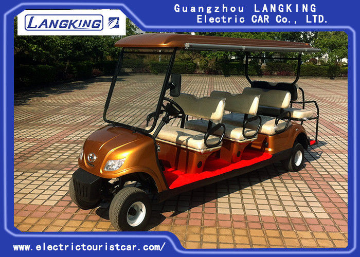 8 Passenge Electric Club Car For Hotel Reasort 80km Range HS CODE 8703101900